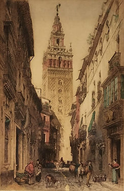 Street in Seville, A 1916 JAB HCB croppe