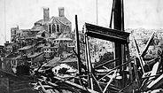 Verdun cathedral damage 1916