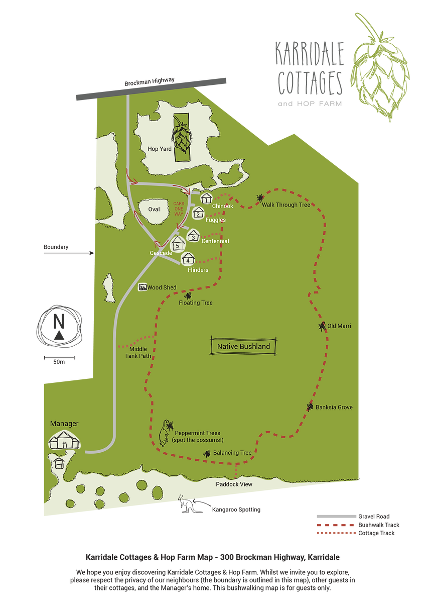 Karridale Cottages Bushwalk Map 2018.png