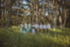 Margaret River Wedding - bridal party in a bush setting