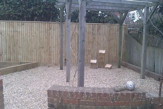 Closeboard fencing Lap panel landscaping