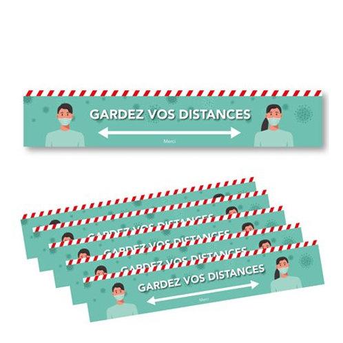 Bandes Distance Sticker Marquage Sol