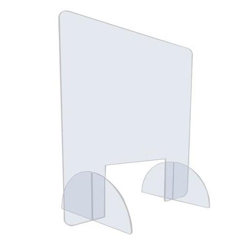 Vitre protection plexiglas sur pieds - Hygiaphone