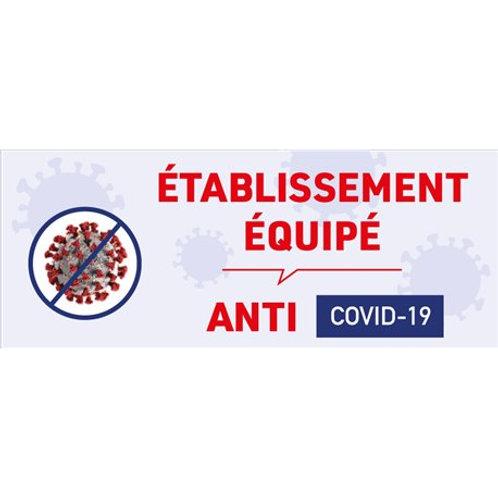 Sticker établissement équipé contre le virus