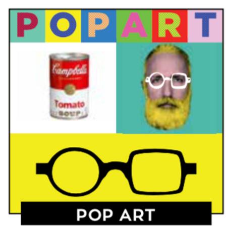 POP ART : Lunettes loupes avec filtre anti blue  pack de 24