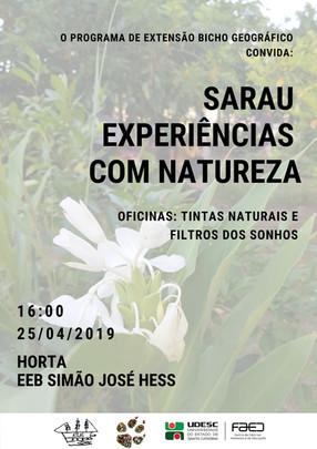 Sarau Experiências com Natureza 25/04/2019