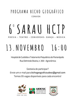 6º Sarau HCTP 13/11/2018