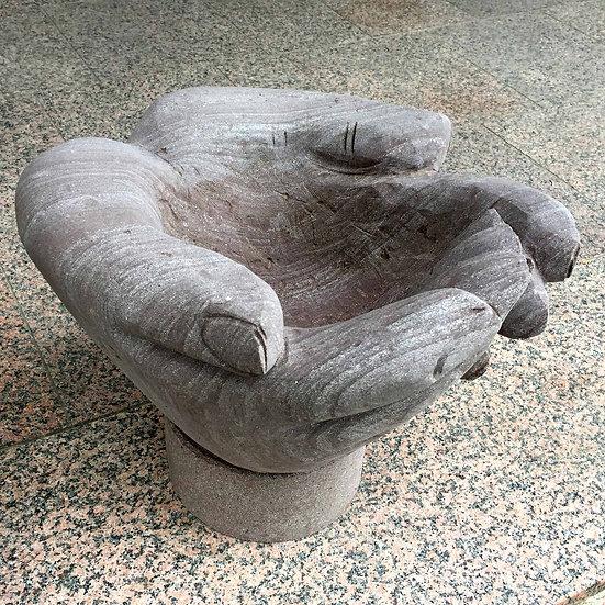 Pflanzentopf Hand Rot/Braun