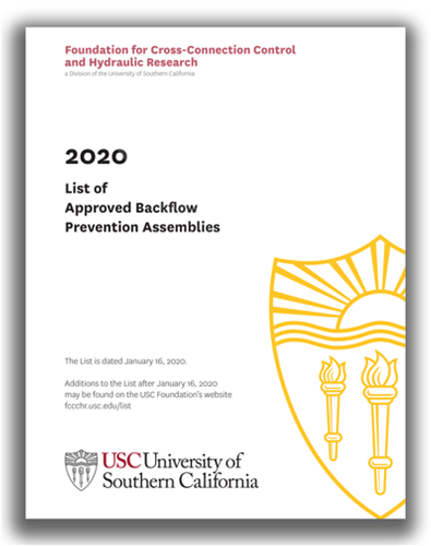 USC List of Approved Backflow Assemblies - View Book