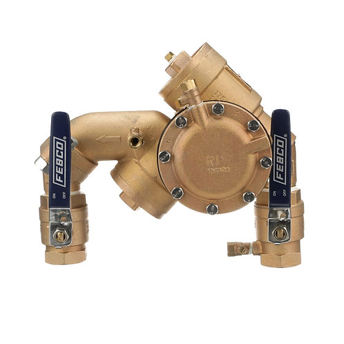"""FEBCO 825YA - 1"""" - Angled Union - Reduced Pressure Assembly - (825EBV70)"""