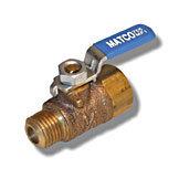 "MATCO 1/4"" MIP X 1/4"" FIP  Leverhandle TC Lead Free - (755MF1)"