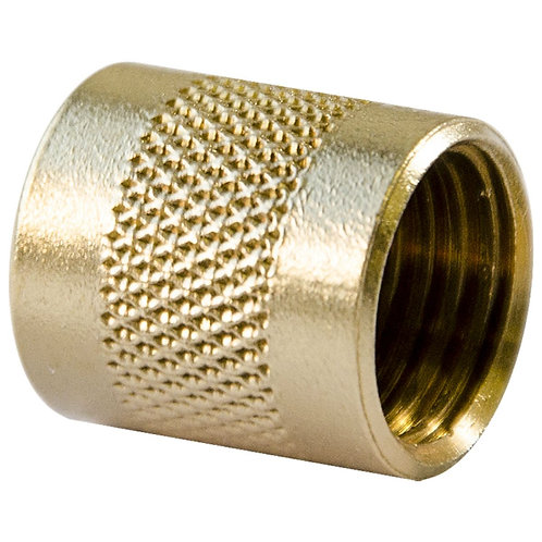 """ABS - 1/4"""" - BRASS CAP O RING SEAL/ KNURLED - (CD2245)"""