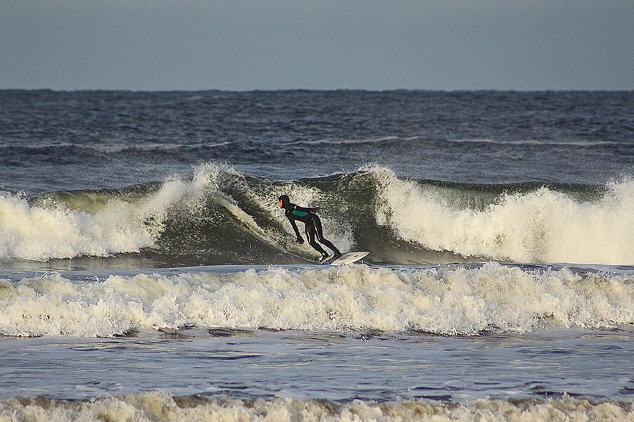 Surfing the north coast of Scotland