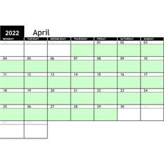 2022 April Availability