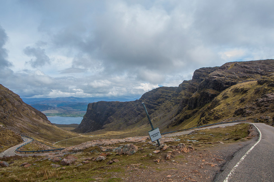 The infamous Bealach na Ba, part of the NC500 route