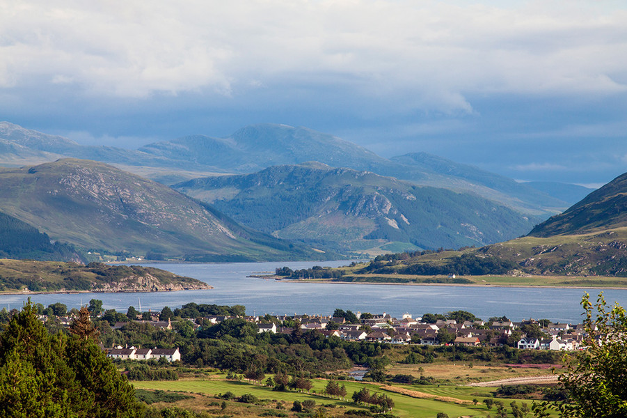 Ullapool from the roadside
