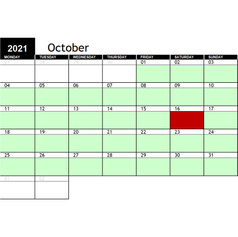 2021 October Availability
