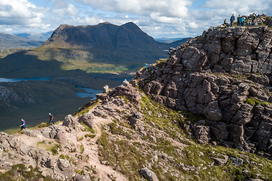 The Stac Pollaidh Ridge in the North West Highlands.