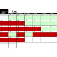 2021 June Availability