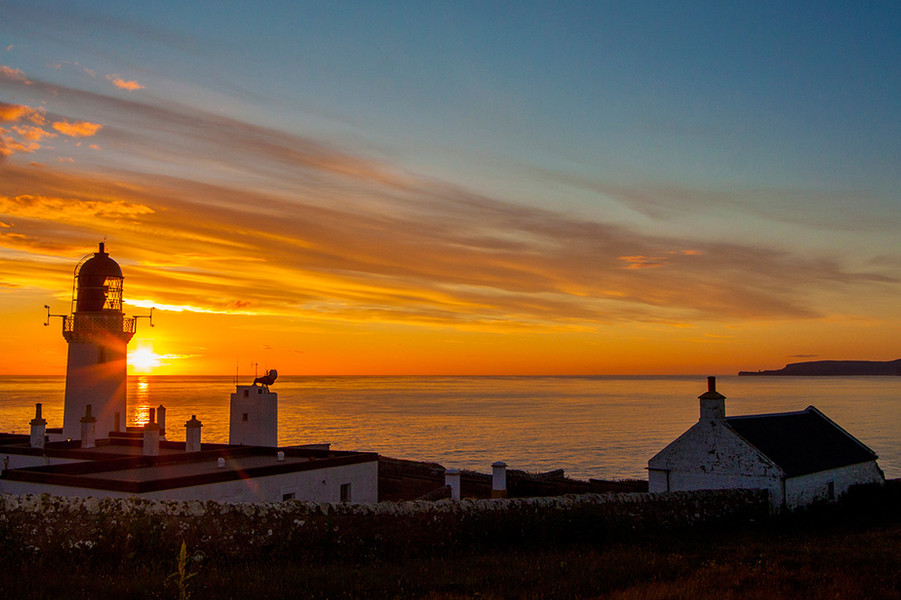 Sunset at Dunnet Head Lighthouse