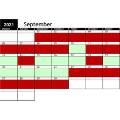 2021 September Availability