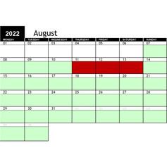 2022 August Availability