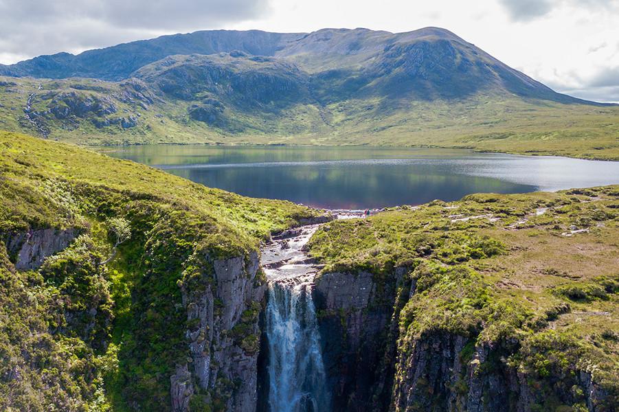 The Wailing Widow waterfall, Unapool, Sutherland