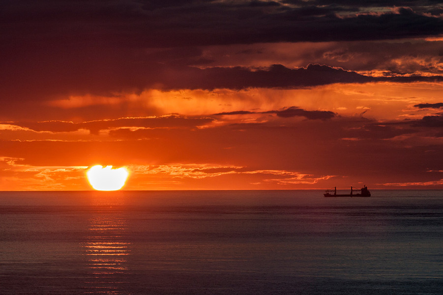 Sunset over the Pentland Firth