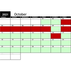 2021 October Availability