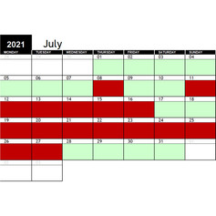 2021 July Availability