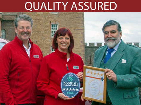 Visit Scotland 5 Star grading presentation