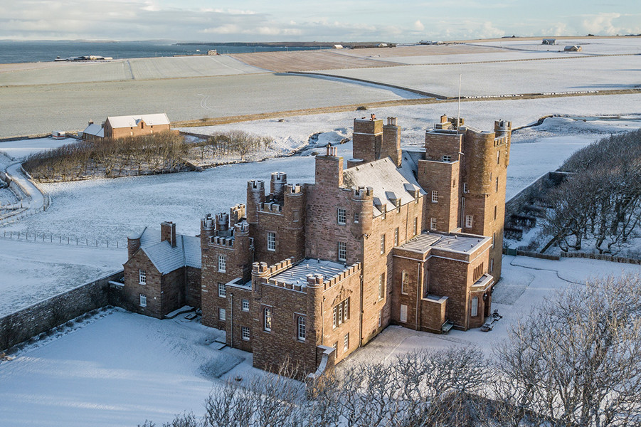 The Castle and Gardens of Mey in winter.