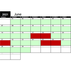 2021 June Availability