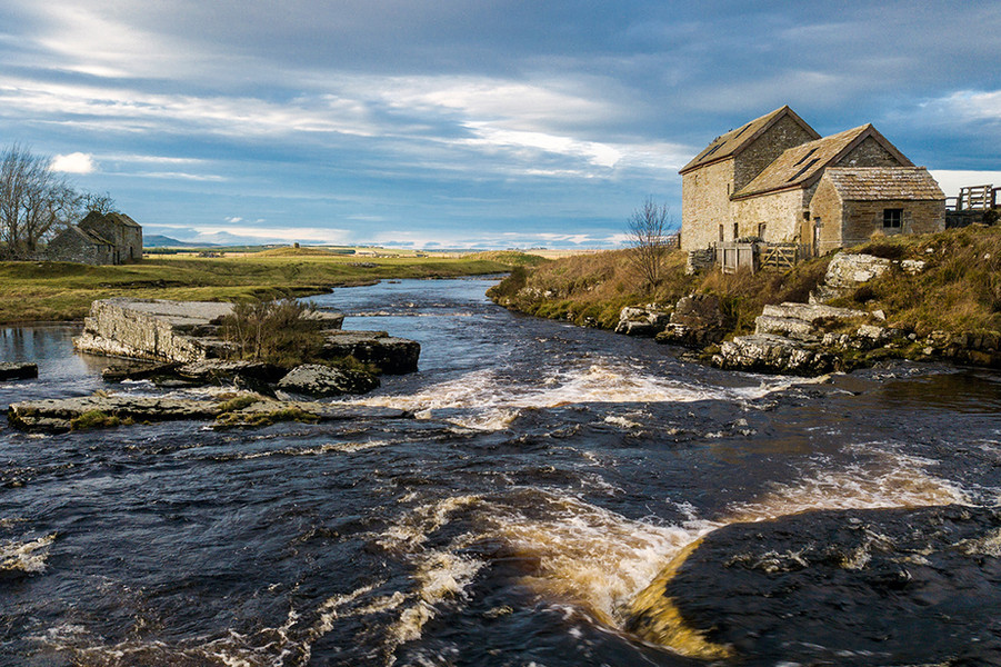 Dale Mill at Westerdale by the River Thurso