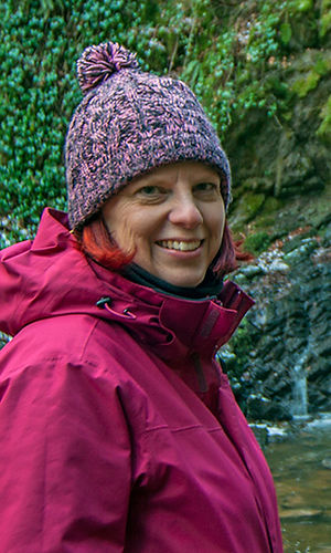 Sally-Ann James of North Coast Explorer Tours at the Fairy Glen, Rosemarkie, Black Isle