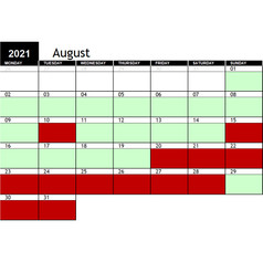 2021 August Availability