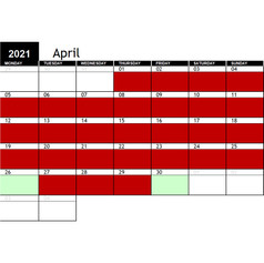 2021 April Availability