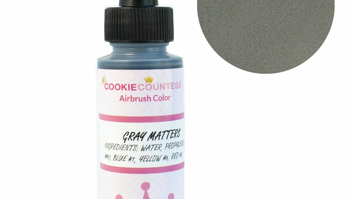 Cookie Countess - Gray Matters edible airbrush color 2oz