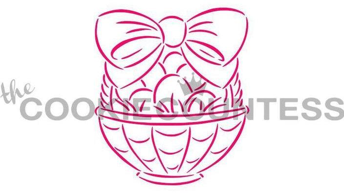 Easter Basket PYO Stencil - Drawn by Krista