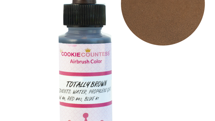 Cookie Countess - Totally Brown edible airbrush color 2oz