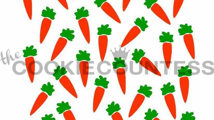 2 Piece Carrot Stencil