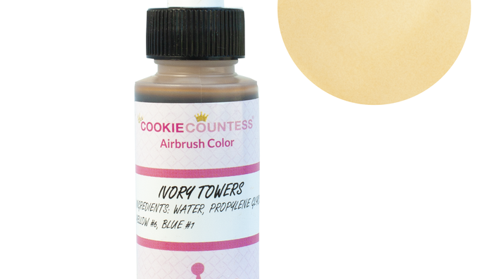 Cookie Countess - Ivory Towers edible airbrush color 2oz