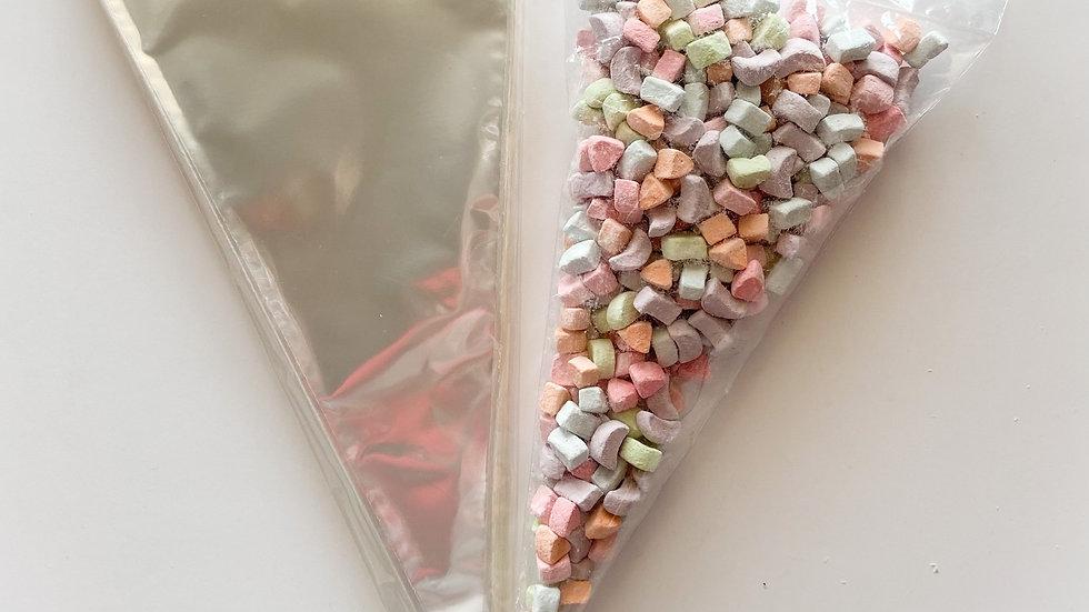 """Polypropylene Cone Bags - 6 x 12"""""""