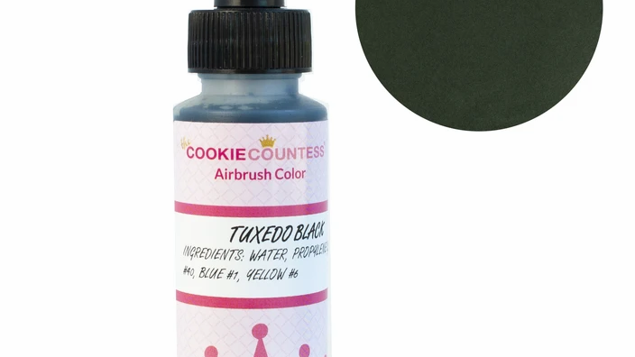 Cookie Countess - Tuxedo Black edible airbrush color 2oz