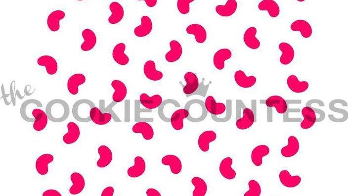 Mini Jelly Beans Stencil