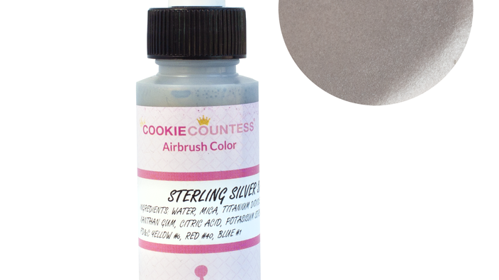 Cookie Countess - Sterling Silver Shimmer edible airbrush color 2o