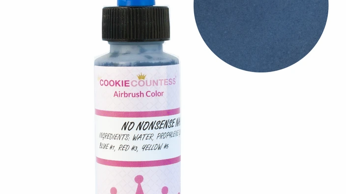 Cookie Countess - No Nonsense Navy edible airbrush color 2oz