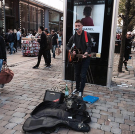 Busking in Manchester 2016
