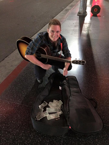 Busking in Hollywood, 2016