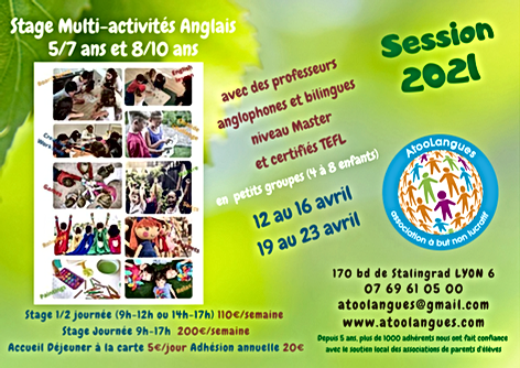 Stages Enfants Atoolangues Printemps 202